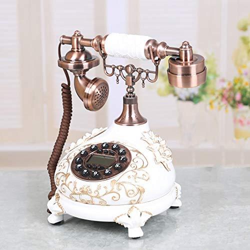 Wanjun Teléfono Antiguo Teléfono Retro Europeo Dormitorio En Casa Creativo Retro Teléfono Fijo Moda Antiguo Teléfono Fijo,whitegoldwithcopperplating