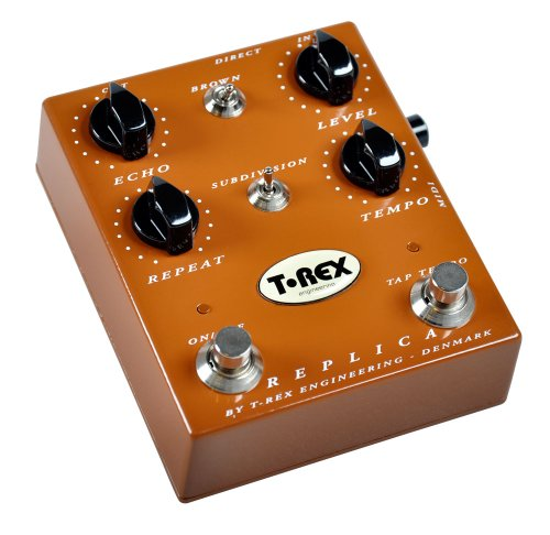 T-Rex REPLICA - Pedal de efecto reverb para guitarra, color marrón