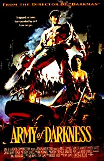 HUGE LAMINATED / ENCAPSULATED Army of Darkness Film POSTER measures approximately 100 x70 cm Greatest Films Collection Directed by Sam Raimi. Starring Bruce Campbell Embeth Davidtz Ian Abercrombie. A man is accidentally transported to 1300 A.D. Reproduction Original Film POSTER measures aproximately 100 x 70cm