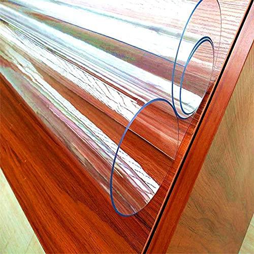 Protectores de mesa transparentes de 1,5 mm de grosor, de PVC transparente, protector de mesa, impermeable, transparente, para mesa de comedor, escritorio, mesa de madera, calor, 50 x 120 cm