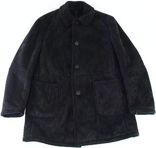 Lauren by Ralph Lauren Mens Overcoat Faux-Shearling Black 48R