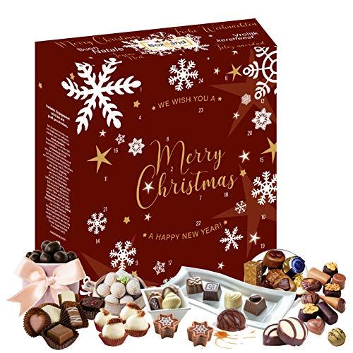 Pralinen Adventskalender 2020 mit besonderen Pralinen I Pralinen Geschenk im Adventskalender I leckere Pralinen für die Adventszeit I täglich eine süße Leckerei I Sweets Geschenkbox I Süßigkeiten