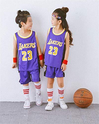 Conjunto De Camiseta Deportiva De La NBA para Niños, Niños, Bulls Jordan # 23 / Lakers James # 23 / Warriors Curry # Trajes De Entrenamiento De Bordado De Baloncesto para Niños Y Niñas