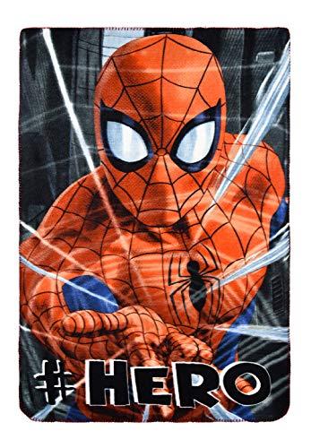 yuhu Spider-Man Polar Fleece Kuscheldecke Tagesdecke 100 x 150 cm rot