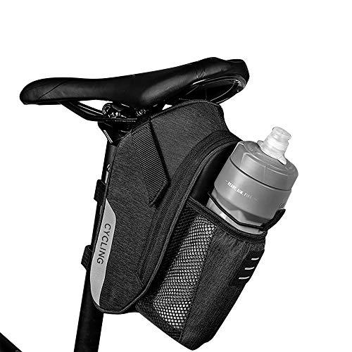 OIZEN Girls Satteltasche Fahrradtasche Radtasche für Mountainbike Rennrad Wasserdicht für Alle Fahrräder(1,8L), Schwarz