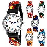 Reloj de pulsera para niños con diseño de coches de Cars, para...