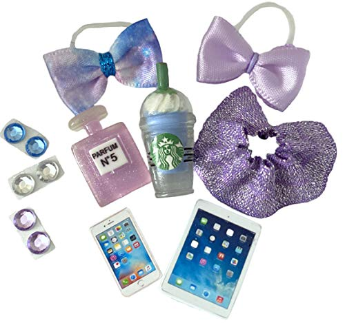10 PC Purple Pet Shop Accessories LPS Lot Bow Skirt Clothes CAT NOT Included