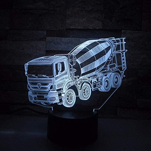 Blender 3D Nachtlampje LED Touch Schakelaar 7 Kleur Verander 3D Lamp Truck Auto Baby Slapen Sfeerlamp Als Kid's Gift