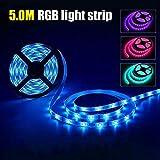 5 V USB de alimentación LED tira luces 5050 RGB TV retroiluminación Bluetooth APP música remota 2 m