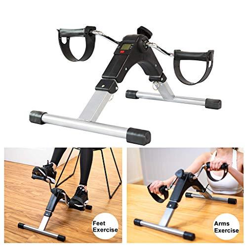 Tragbarer Faltpedal-Übungsapparat, Indoor Mini Heimtrainer Elektronische Anzeige für Arme, Beine, Physiotherapie mit Kalorienzähler Fitnessgeräte für ältere Menschen