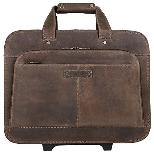 HAROLD'S Antico Business-Trolley Leder 43 cm Laptopfach