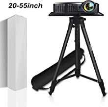 "Projector Stand,Laptop Stand,Aluminum Multifunction Tripod Stand with Tray Adjustable Tripod Laptop Projector Stand, 20"" to 55"" Universal Device Stand Perfect for Stage or Studio Use"