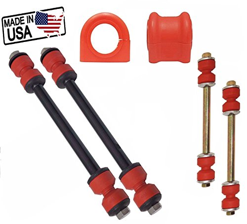 6PC Front and Rear Sway Bar Links + Front Bushings FOR 2002-2005 FORD EXPLORER MOUNTAINEER 27MM BAR