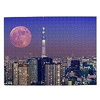 森の小屋 東京の夜景 ジグソーパズル500枚 木のパズル 趣味パズル 減圧パズル 親子パズル 装飾画 壁画