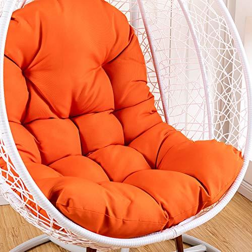 XY&YD terrasstoel stoel kussen, waterdicht opknoping ei hangstoel pads, dikker comfortabele opknoping mand stoel kussens 125x95cm (49x37inch)