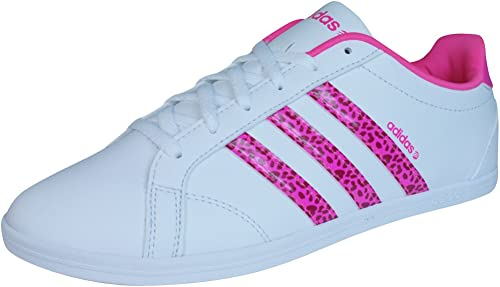 adidas Neo CONEO QT VS Chaussures Mode Sneakers Femme Blanc Rose ...