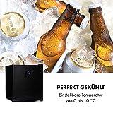 Klarstein Beer Baron Getränkekühler, Volumen: 46 Liter, Energieeffizienzklasse A+, Temperatur: 0-10 °C, Touch-Bedienfeld, verstellbarer Gitterboden, schwarz - 8