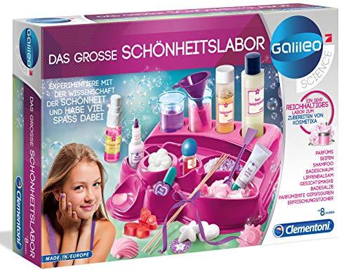 Clementoni 59077 Galileo Science – Das große Schönheitslabor, duftender Badeschaum, Nagellack, Seifen & Shampoo, Spielzeug für Kinder ab 8 Jahren, Experimente für Zuhause