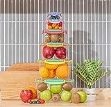 Contenedores de almacenamiento de alimentos con tapas,contenedores de plástico reutilizables,caja organización de cocina con tapas de fácil bloqueo,cajas de almacenamiento de alimentos Tritan sin BPA