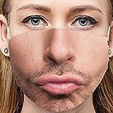YUWEX 1 Stück Erwachsene Mundschutz Lustig Waschbar Baumwolle Stoff Mehrweg Tuch Halstuch Bandana Motive Halstuch Bandana Mund und Nasenschutz
