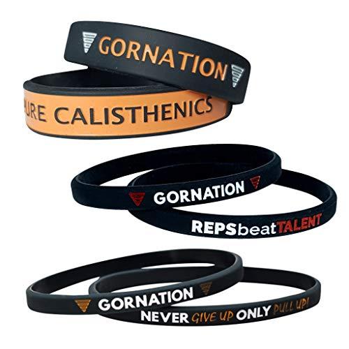 GORNATION® Motivations Armbänder Set (6 Stück) - Ideal für den Alltag als auch für Sport - Für Männer und Frauen - Equipment Accessoires (Armbänder Set)