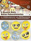 Unique Party- 6 Pelotas Saltarinas Motivo Emojis, Multicolor, talla única (Partygram 50638) , color/modelo surtido