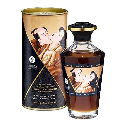 Aceite de Masaje Afrodisíaco Efecto Calor de Love Latte 100 ml. – Shunga - Juego para tus sentidos: estimula tu tacto, tu gusto y tu olfato!