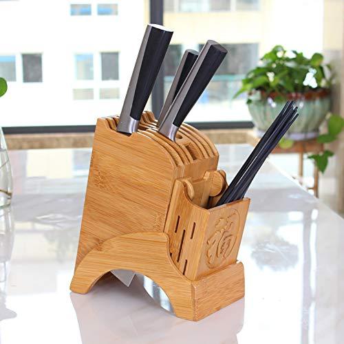 BCXGS Multifunktions Messerblock 20 × 10,8 × 22 cm, Universeller Messerständer Zur Sicheren Aufbewahrung Von Küchenutensilien Und Messern