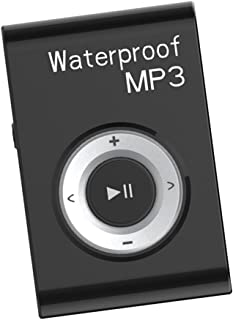 Dolity Portable Waterproof Mp3 Music Player Stereo Sound FM Radio with Clip Hanging Type - Black
