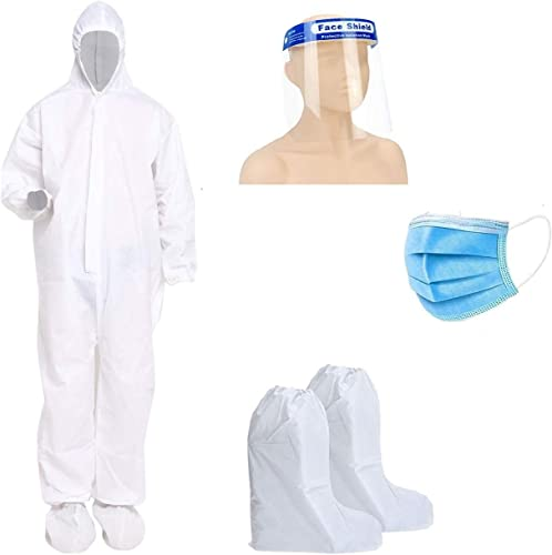GOHNA PPE Kit SITRA ISO Approved for Full Body Protection Non Suffocating and Comfortable For Travelling And Medical Use Etc