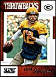 2019 Score NFL Throwbacks #3 Aaron Rodgers Green Bay Packers Official Football Card made by Panini