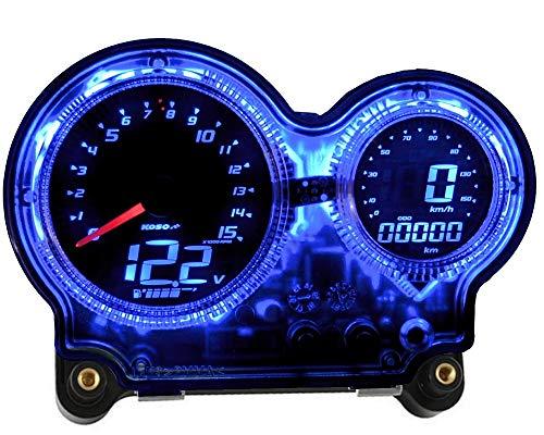 Tacho KOSO Digital EVO, digitales LED Display, Speed/ODO/Trip/RPM für Yamaha Aerox/MBK Nitro