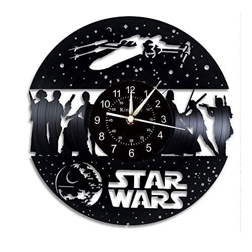 GuoEY Schallplatte Wanduhr, Star Wars - Geschenkidee, handgemachte Wanduhr, ohne Licht