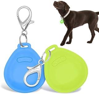 چراغ یقه سگ LED DOMIGLOW - 2 بسته چراغ برچسب سگ LED برای چراغ های سگ یقه دار برای شب گردی