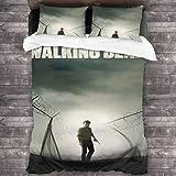 QWAS The Walking Dead - Juego de ropa de cama (3 piezas, 2,135 x 200 cm + 80 x 80 cm x 2)