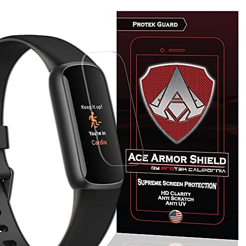 how to get started and stick with a fitbit 2021 ACE ARMOR SHIELD (8 Pack) Premium HD Waterproof Screen Protector compatible with Fitbit Luxe 2021