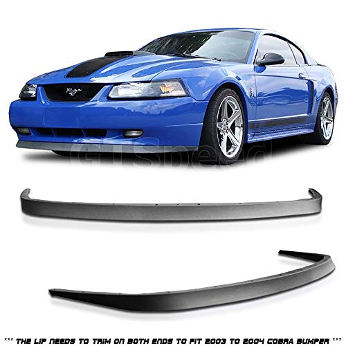 GT-Speed - OE Style PU Front Bumper Lip - Compatible With 1999-2004 Ford Mustang GT V6 V8 USDM Bumper (Not Compatible With 03-04 Cobra Bumper)