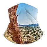 N/A - Passamontagna per il collo, motivo: paesaggi naturali, deserti, alpinisti, arrampicata, arbusti, formazioni rocciose, chad