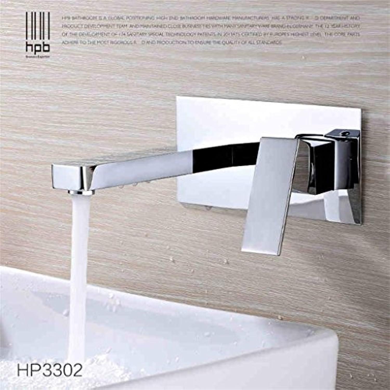 TRRE-Alle Kupfer hei und kalt in die Wand verborgen Becken Wasserhahn Taps Counter-Becken