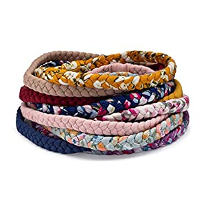 Parker Baby Girl Braided Headbands, Assorted 10 Pack of Hair Accessories for Girls