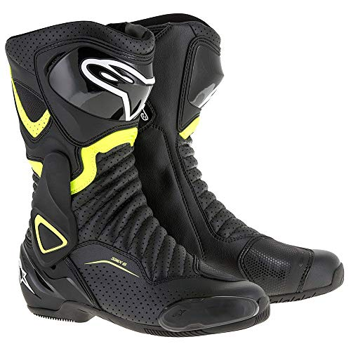Alpinestars SMX-6 v2 Vented Boots (43) (BLACK/YELLOW)