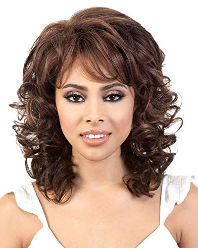 Tiara Synthetic Wig by Motown Tress in 3T4/613, Cap Size: Average, Length: Medium