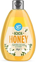 Marca Amazon - Happy Belly Miel de acacia 340gr x 4