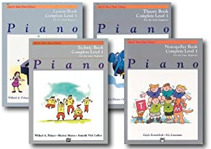 Alfred Basic Piano Library Course Pack Level 1 Complete - Four book set - Includes - Lesson, Theory, Technic and Notespeller Books