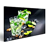 islandburner Bild Bilder auf Leinwand Mojito-Cocktail auf