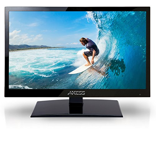 AXESS TV1701-24 24-Inch 1080p LED HDTV, Features 12V Car Cord Technology, VGA/HDMI/USB Inputs, Built-In Digital and Analog TV Tuner, Full Function Remote