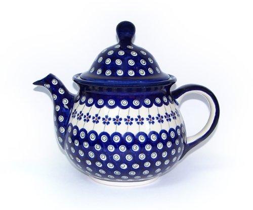 Original Bunzlauer Keramik Kaffeekanne / Teekanne 1,7L im Dekor 166a