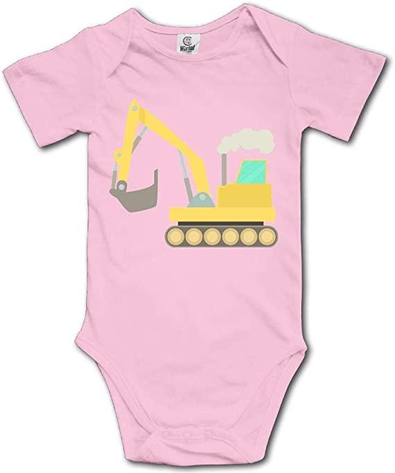 NMDJC CCQ Cartoon Excavator Baby Skirts Fashion Kids T Shirt Dress Soft Flounces Outfits