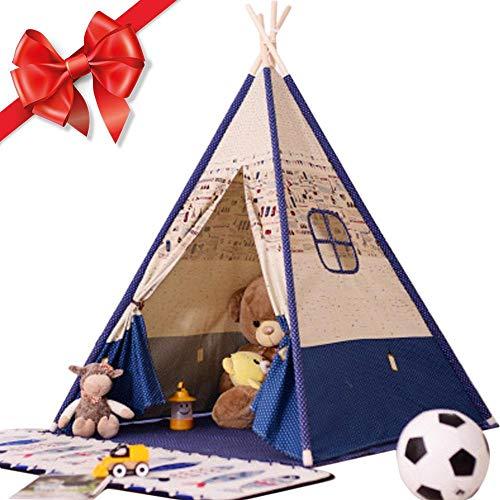 didatecar Tienda De Campaña Tipi para El Interior De La Tienda del Juego De Los Niños De Los Niños A Cabo Los Niños Indios Tienda De Lona(156cm De Alto) Typical