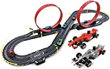 BJINDH 1:43 Track Carring Toys Slot Cars Track Set 6.2m Track Toy Toy Coche con Luces, Pista competitiva Doble Juguete Coche de Juguete, Padre-Child Interactive Ocio Toy